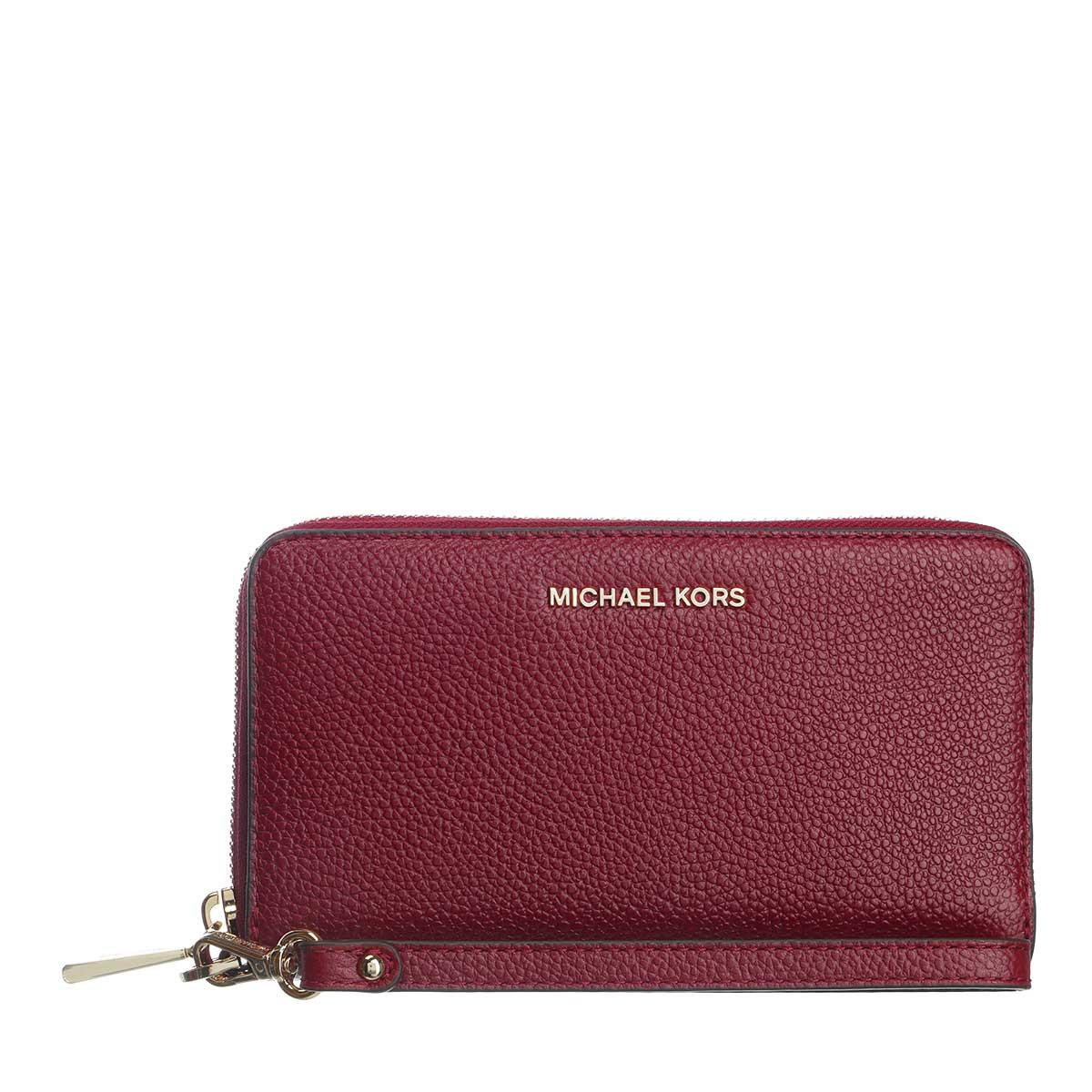 Michael Kors Portemonnaie - Large Flat Phone Case Dark Berry - in rot - für Damen