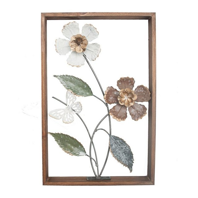 "NTK-Collection Wanddekoobjekt ""Wanddeko Silhouette Flowers"" (1 Stück)"