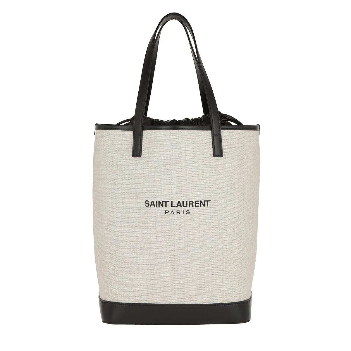 Saint Laurent Shopper - Teddy Shopping Bag Linen Canvas Beige - in beige - für Damen