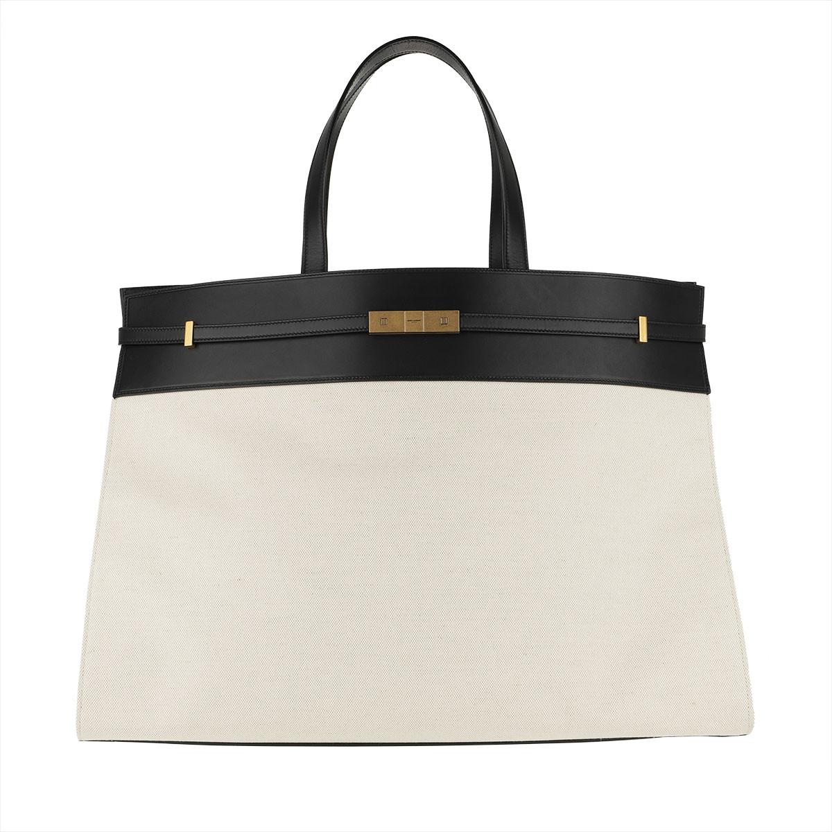 Saint Laurent Tote - Saint Laurent Bag 554039 GGK9W Grigio/Nero - in weiß - für Damen