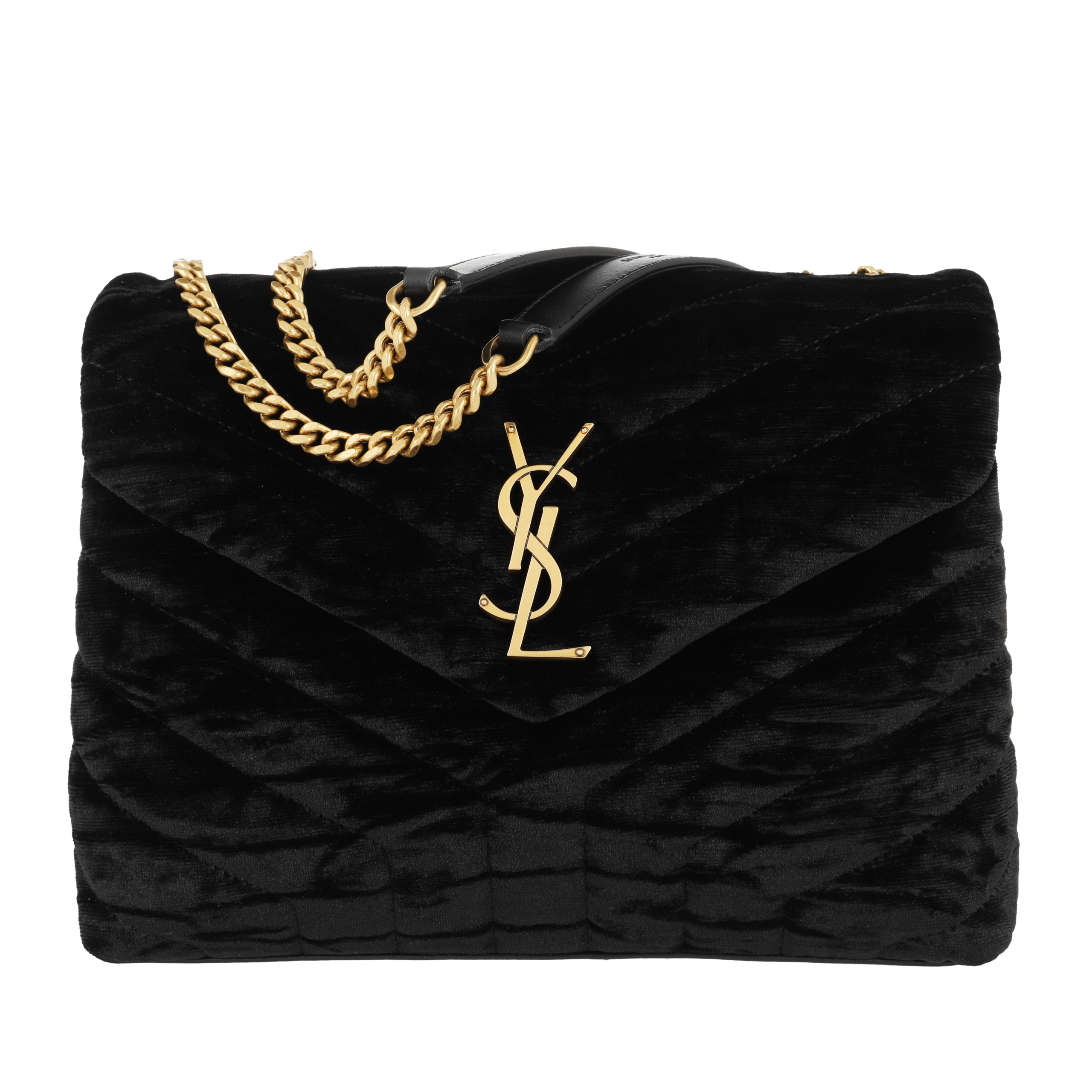 Saint Laurent Umhängetasche - Small Lou Lou Bag Black - in schwarz - für Damen