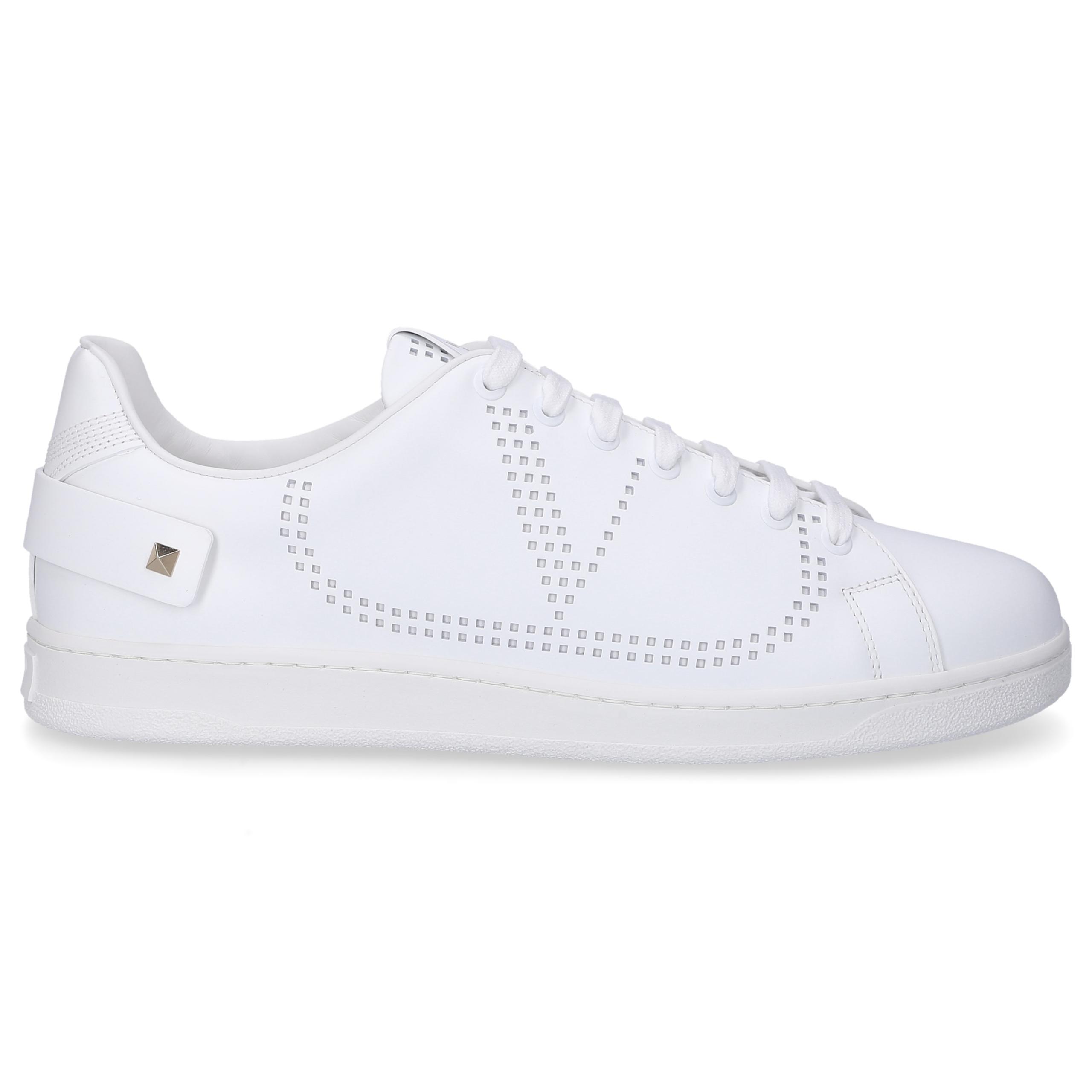 Sneaker low BACKNET Kalbsleder Logo weiß