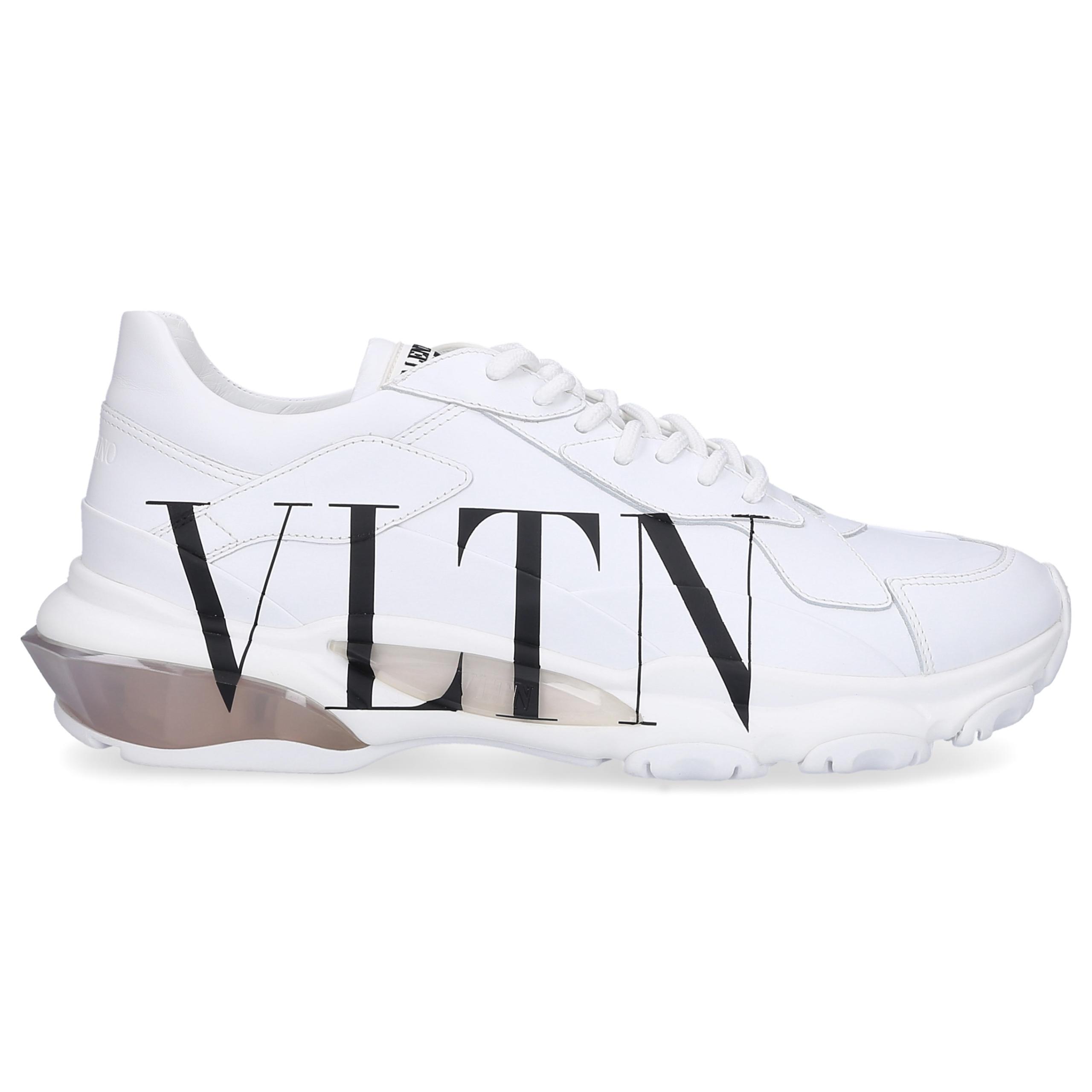 Sneaker low BOUNCE VLTN Kalbsleder Logo weiß