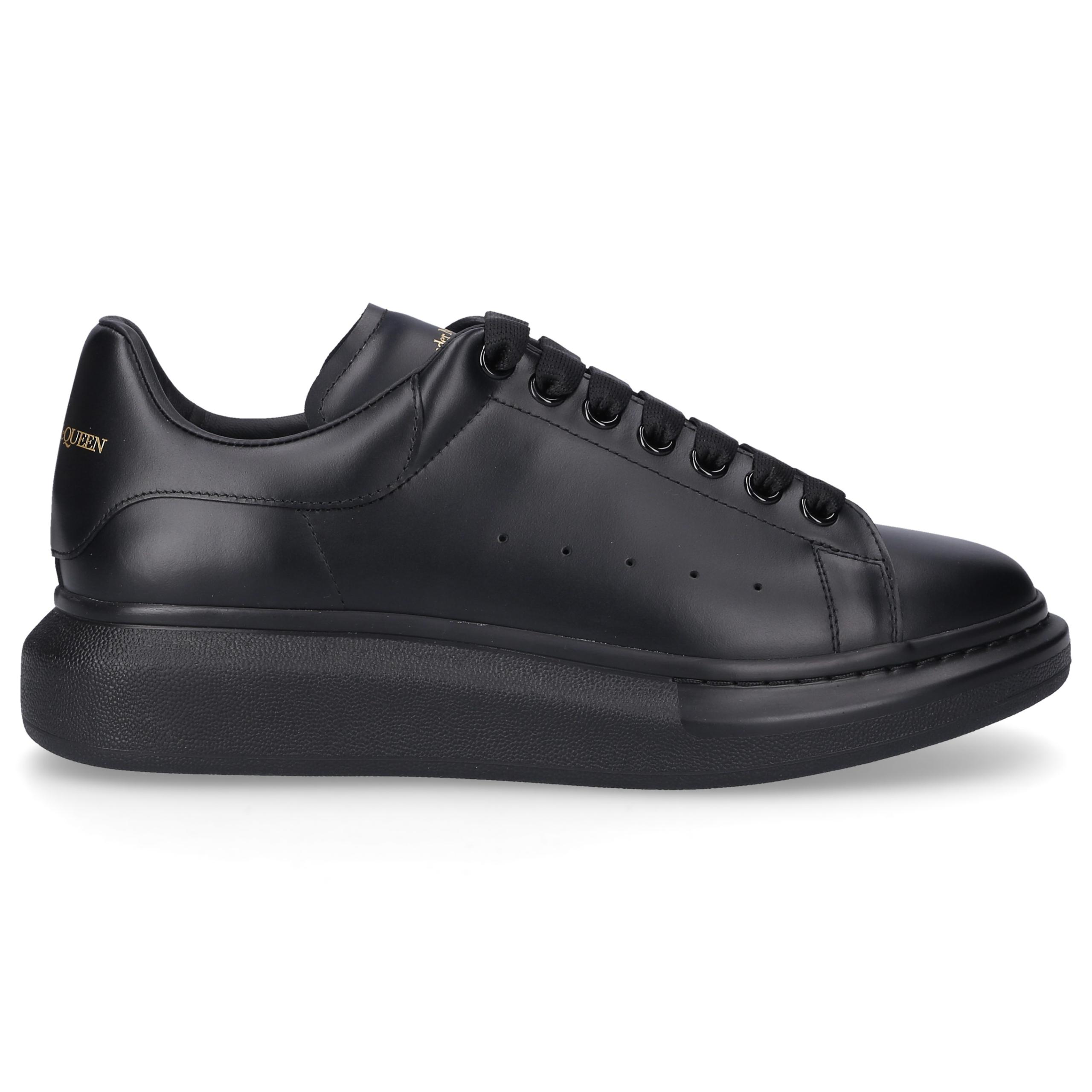 Sneaker low LARRY Kalbsleder Logo schwarz