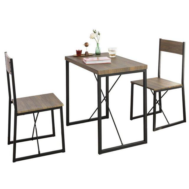 """SoBuy Essgruppe """"OGT19"""", Esstisch mit 2 Stühlen Sitzgruppe Küchentisch"""