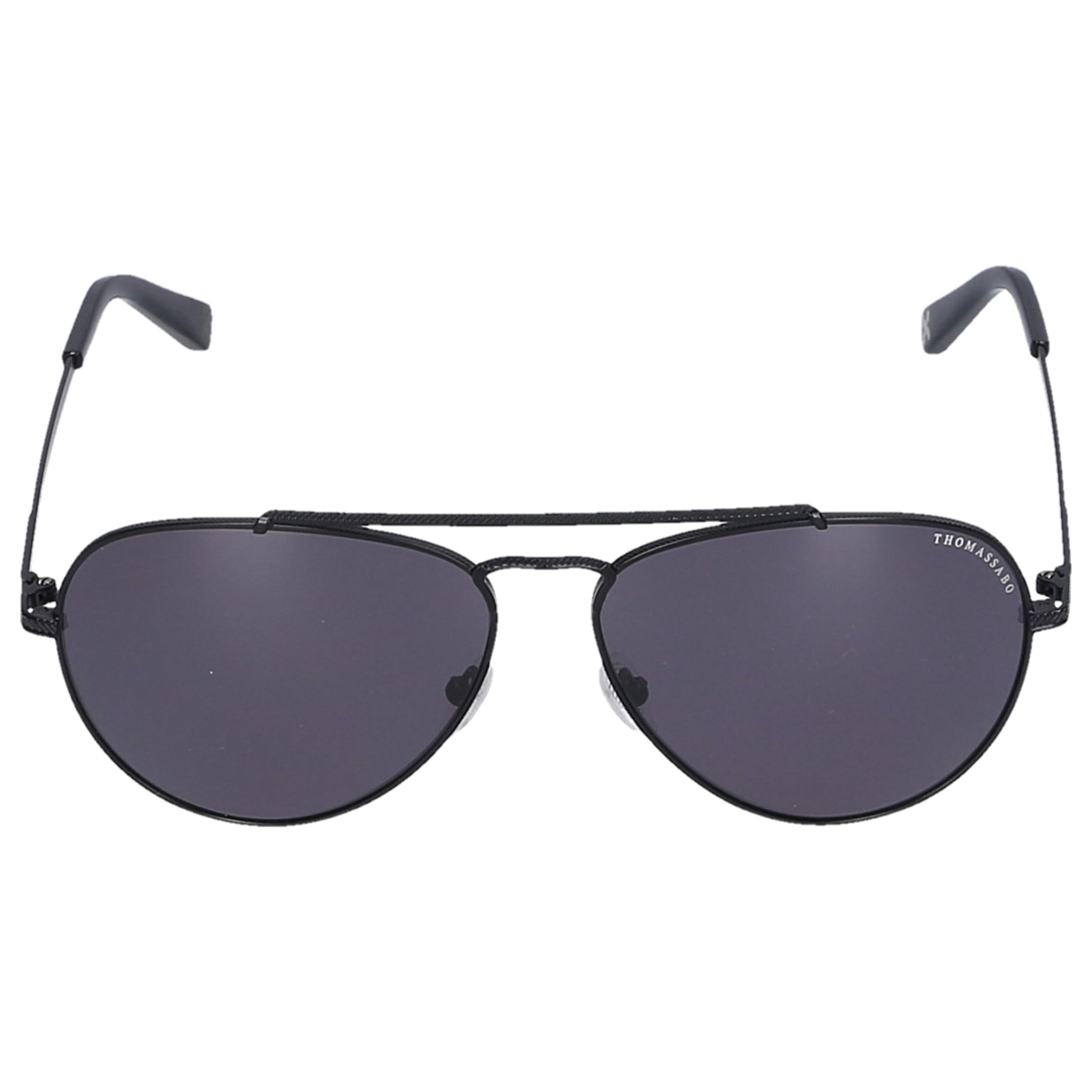 Sonnenbrille Aviator 254106 Metall schwarz