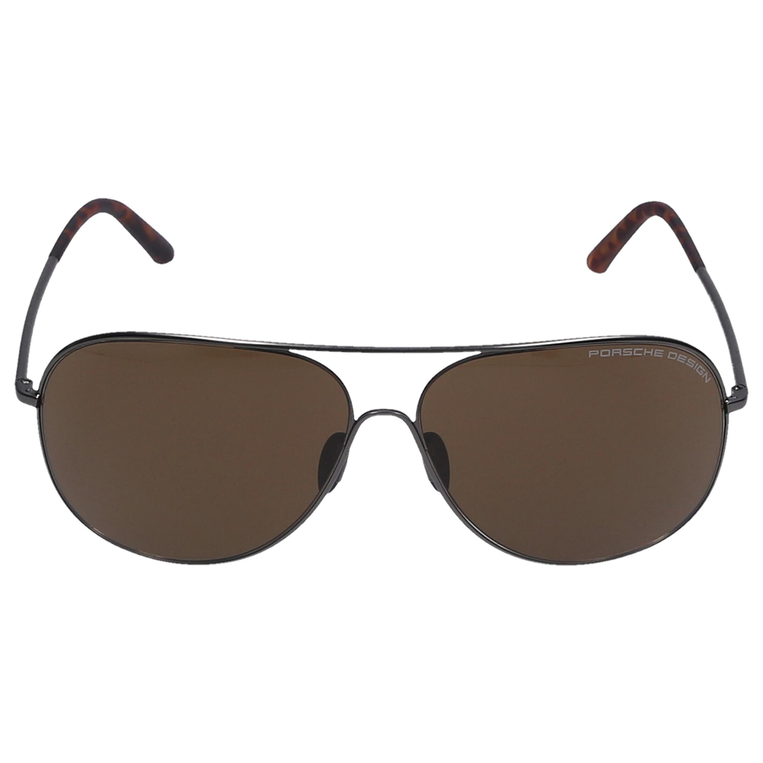 Sonnenbrille Aviator P8605 A 64/12 Acetat Metall silber