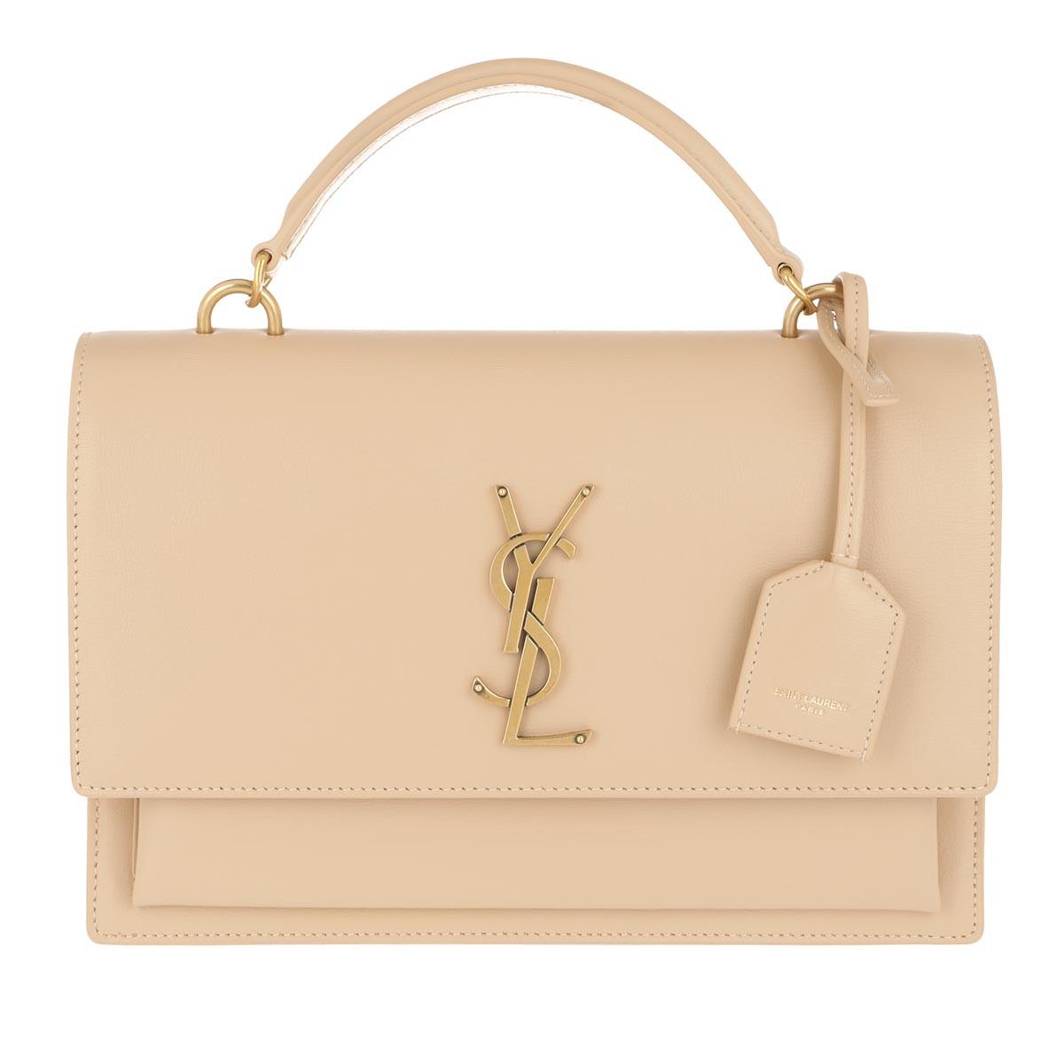 Umhängetasche Sunset Shoulder Bag Leather Beige beige