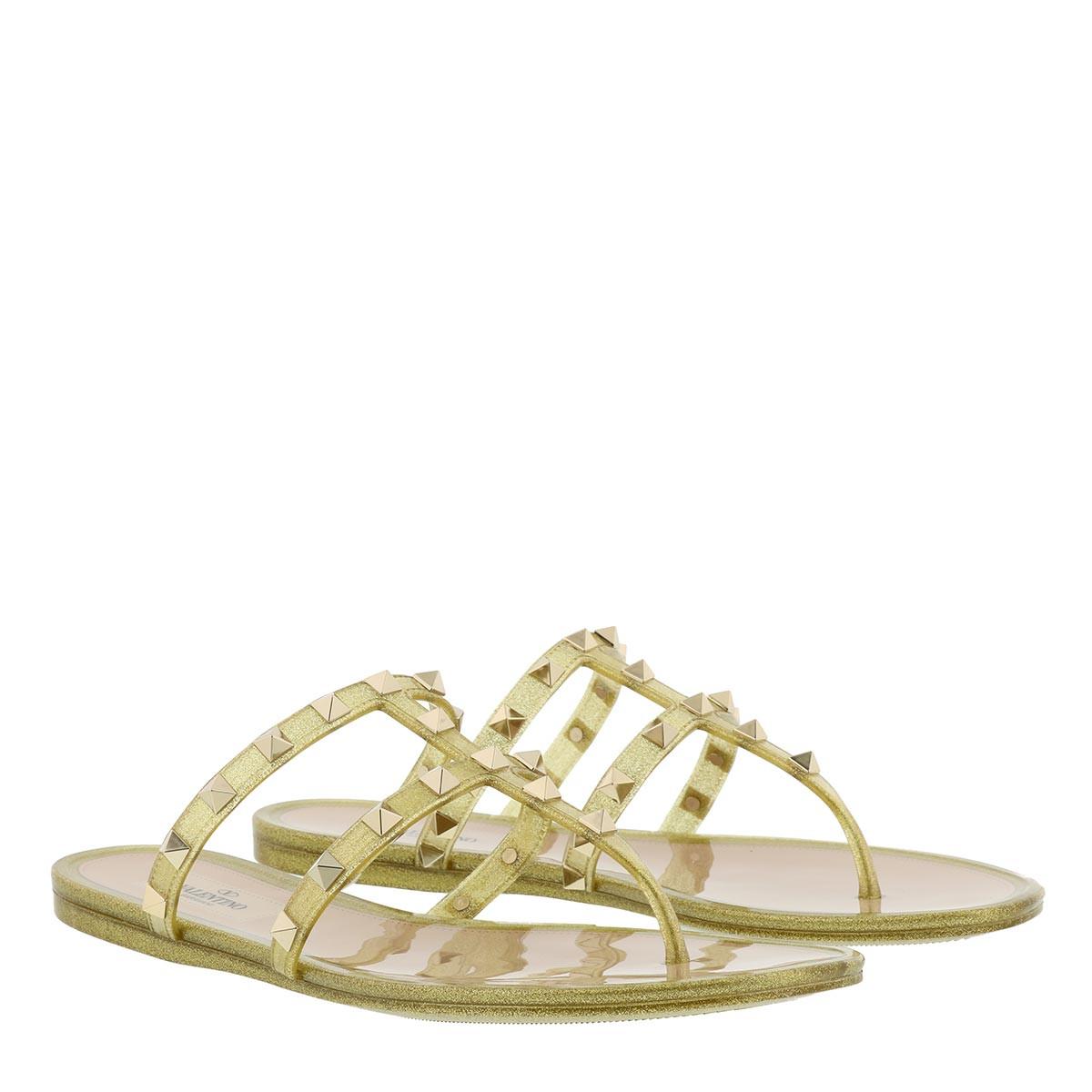 Valentino Sandalen - PVC Thong Flip Flops Gold - in gold - für Damen