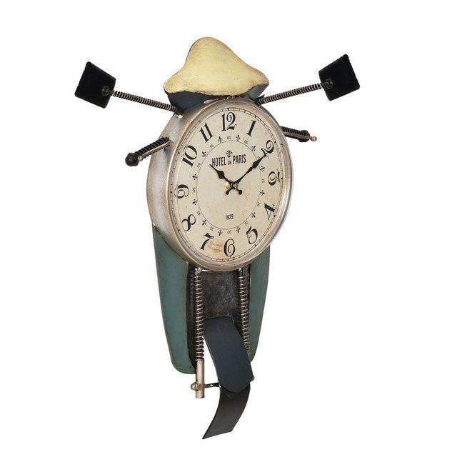 """en.casa Wanduhr (Motorrad"""" Design Uhr Metall)"""