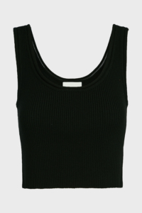 3.1 Phillip Lim Cropped Rib-Knit Sleeveless Top, size S, Women, Black
