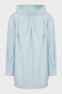 3.1 Phillip Lim Oversized Draped Poplin Shirt, size S, Women, Blue