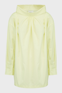 3.1 Phillip Lim Oversized Draped Poplin Shirt, size S, Women, Yellow