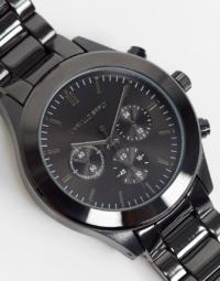 ASOS DESIGN - Schwarze Armbanduhr