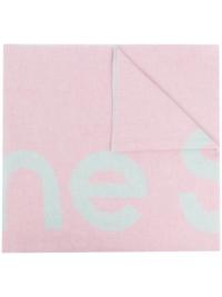 Acne Studios Schal mit Logo - Rosa