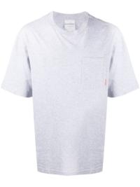 Acne Studios T-Shirt mit Brusttasche - Grau