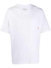 Acne Studios T-Shirt mit Brusttasche - Weiß