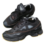 Adidas X Raf Simons Ozweego 2 Black Leather Trainers for Men 7.5 US