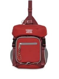 Burberry Gürteltasche mit Logo-Print - Rot