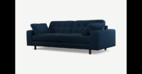Content by Terence Conran Tobias, 3-Sitzer Sofa, Samt in Indigoblau, dunkle Holzbeine - MADE.com