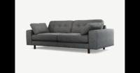 Content by Terence Conran Tobias, 3-Sitzer Sofa, Schiefergrau, dunkle Holzbeine - MADE.com