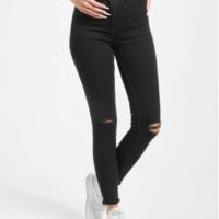DEF Frauen High Waist Jeans Alla in schwarz