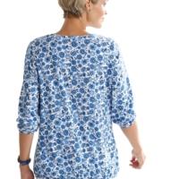Damen Shirt jeansblau-bedruckt