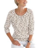 Damen Shirt taupe-bedruckt