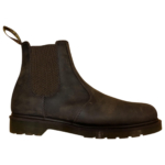 Dr. Martens Chelsea Brown Leather Boots for Men 43 EU