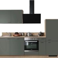 """Express Küchen Küchenzeile """"Scafa"""", mit E-Geräten, vormontiert, mit Vollauszug und Soft-Close-Funktion, Stellbreite 260 cm"""