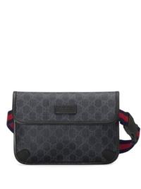 Gucci Gürteltasche mit GG-Muster - Schwarz