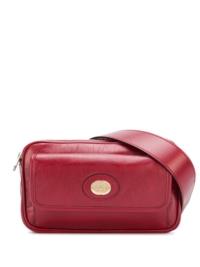 Gucci Gürteltasche mit Logo-Schild - Rot
