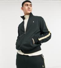 Polo Ralph Lauren x ASOS - Exclusive Collab - Trainingsjacke mit Reißverschluss & goldfarbenen Zierstreifen/Logo-Schwarz