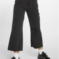 The Ragged Priest Frauen High Waist Jeans Graze Butt Cut in grau