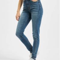Urban Classics Frauen High Waist Jeans Ladies Skinny High Waist in blau