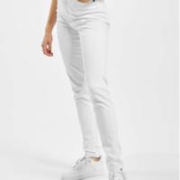 Urban Classics Frauen High Waist Jeans Ladies Skinny in weiß