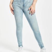 Urban Classics Frauen High Waist Jeans Skinny High Waist in blau