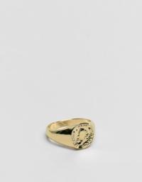 ASOS DESIGN - Goldener Ring mit Münze für den kleinen Finger