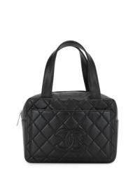 Chanel Pre-Owned 2001 Gesteppter Shopper - Schwarz