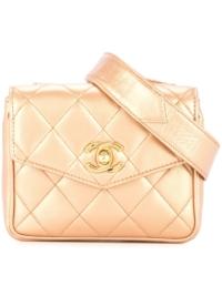 Chanel Pre-Owned Gesteppte Gürteltasche - Gold