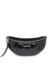 Miu Miu Gürteltasche mit Pailletten - Schwarz