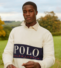 Polo Ralph Lauren x ASOS - Exclusive Collab - Sweatshirt mit Logoeinsatz auf Brusthöhe in Cremeweiß
