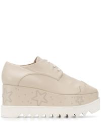 Stella McCartney Oxford-Schuhe mit Plateau-Sohle - Nude