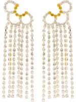 AREA 'Petal Chandelier' Ohrringe mit Kristallen - Silber