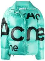 Acne Studios Steppjacke mit Logo-Print - Blau