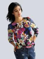 Alba Moda Bluse mit Blumendessin