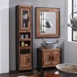 Badezimmer Kombination im Industry Style Akazie Massivholz (3-teilig)