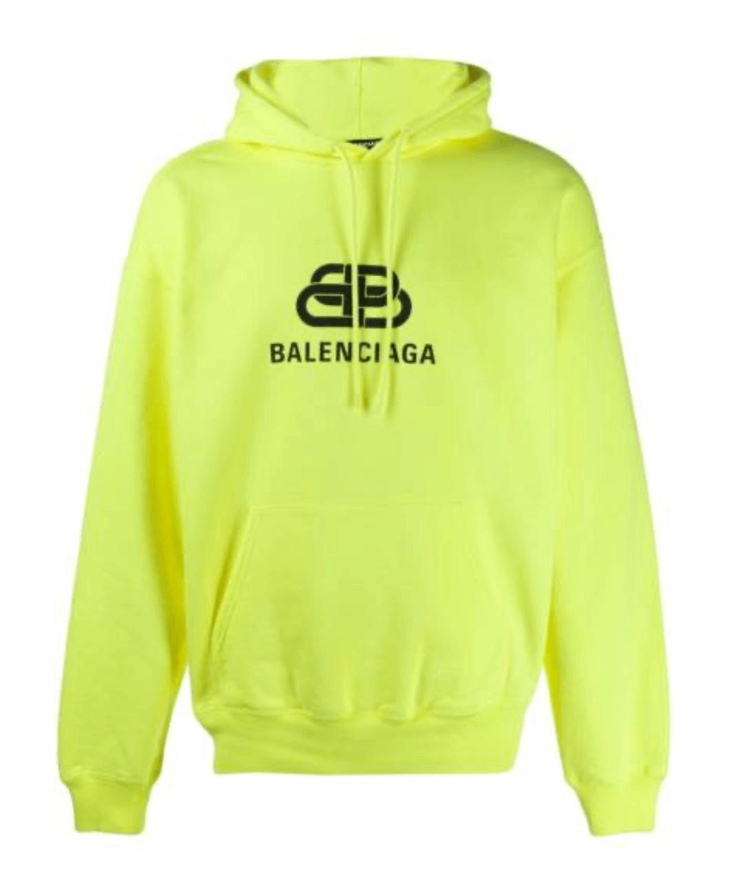 Balenciaga-Hoodie-Herren-Neongelb