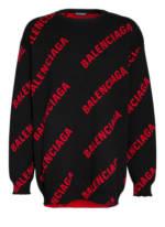 Balenciaga Oversized-Pullover schwarz