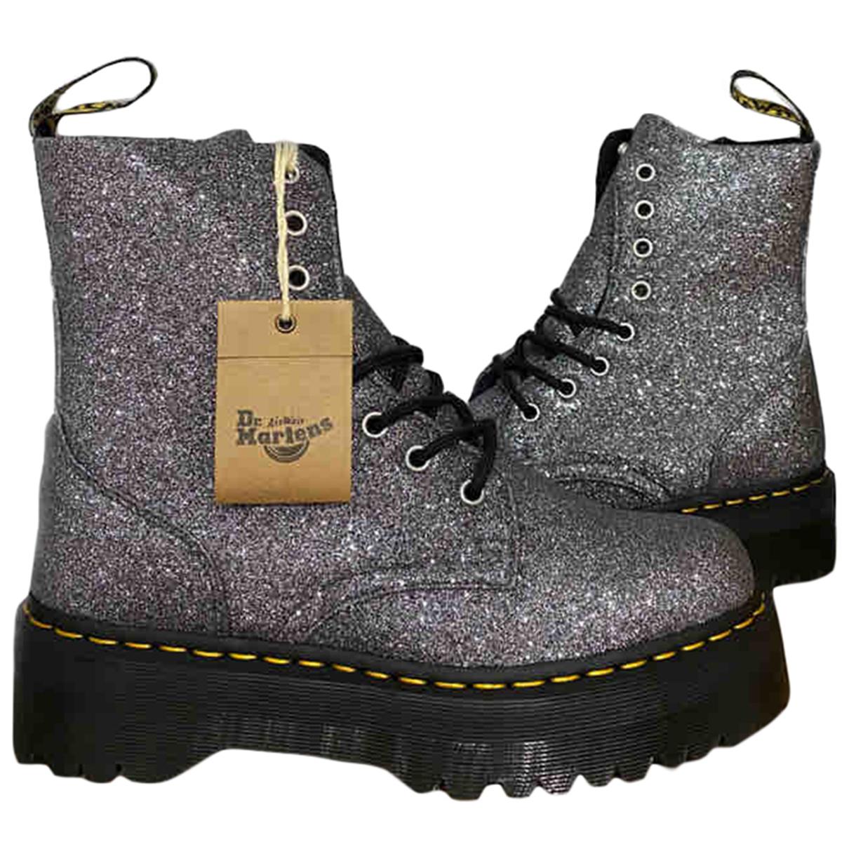Dr. Martens Jadon Silver Glitter Ankle boots for Women 7 UK